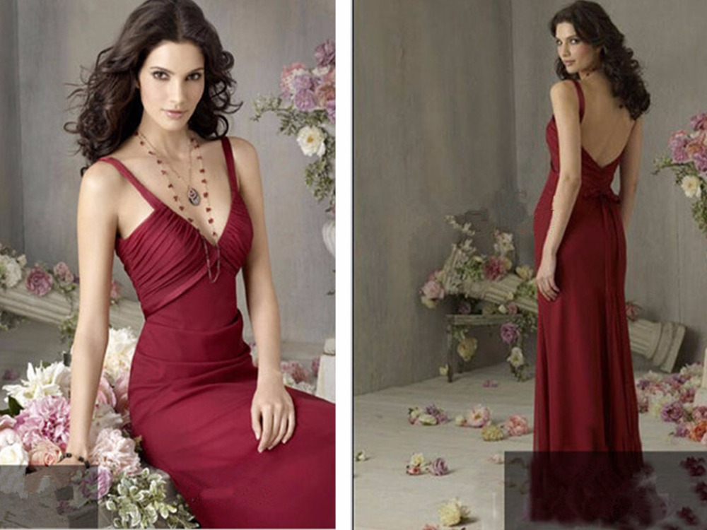 Free Shipping Formal Party Gown 2018 New Sexy Backless Colorful Red Robe De Soiree Vestidos De Festa Bow Long Bridesmaid Dresses