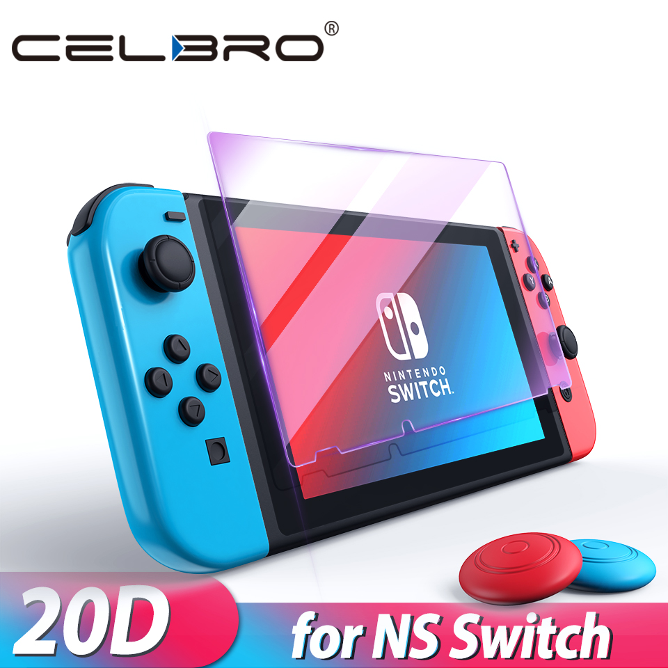 HD Switch Tempered Glass For Nintendos Nintend Switch Nintendoswitch Screen Protector Verre Trempe Switch Cover Protective Film(China)