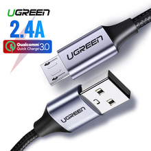Ugreen Micro USB Cable 2.4A Nylon Fast Charge USB Data Cable