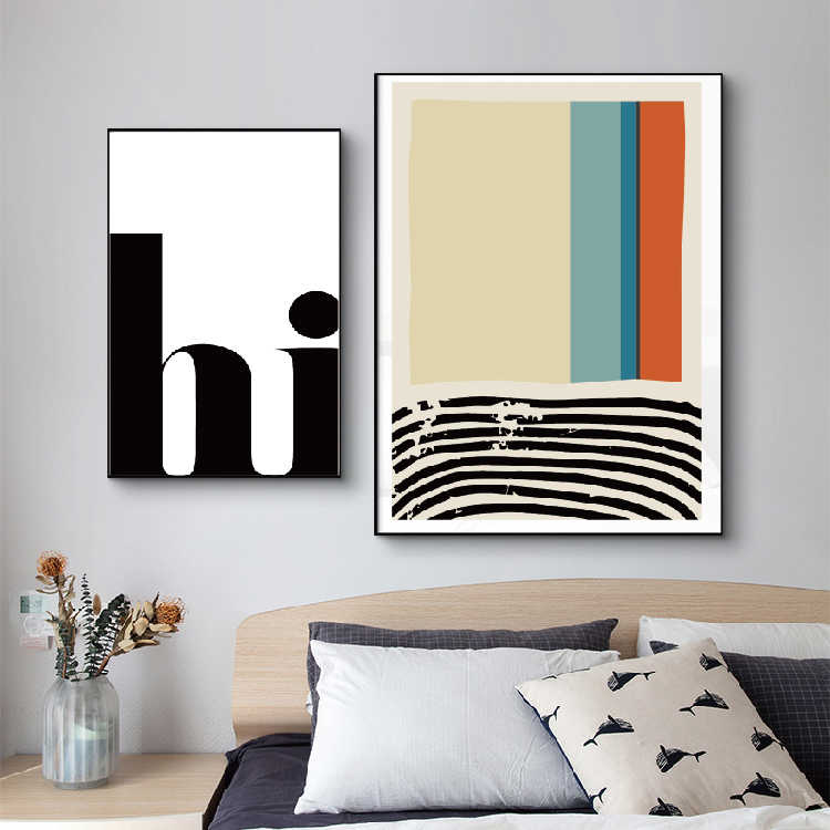 Mid Century Geometric -Scandinavian style modern art print,minimal print Contemporary Art, Abstract Prints mountain poster