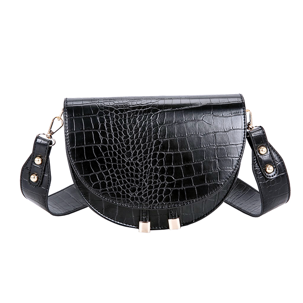 Crossbody-Bags Handbags Messenger-Bag Crocodile-Pattern Round Femme Women Luxury PU  title=