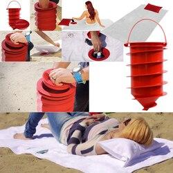 Базовый Летний Пляжный контейнер для хранения, пляжный сейф с полотенцем и подушкой