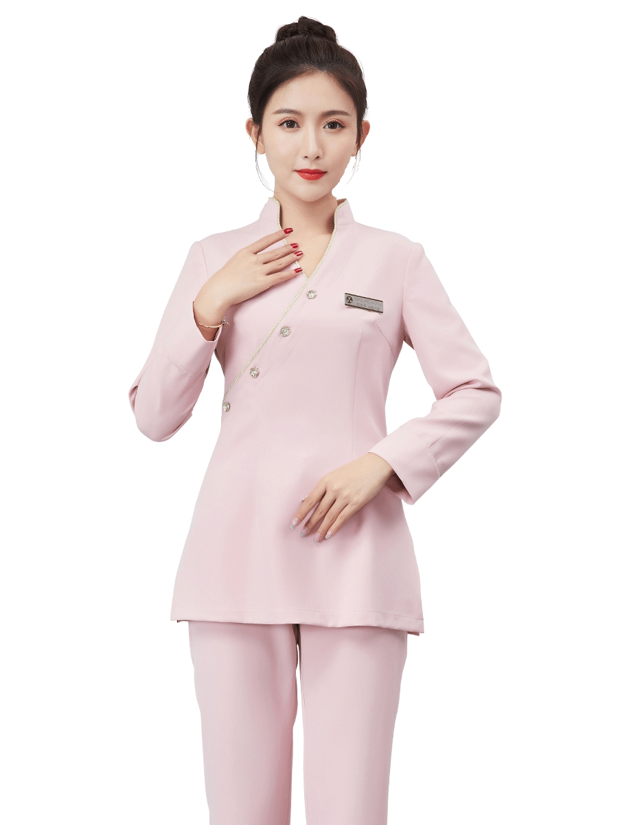 Beautician Work Clothes 2019 Women's New Autumn Winter Beauty Salon Health Care Pedicure Attendant Service Hotel