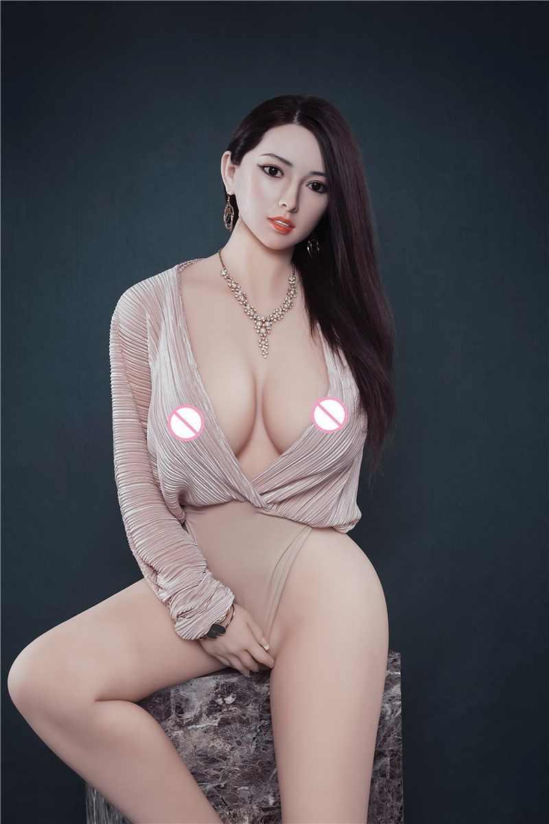 166cm 진짜 큰 가슴 실리콘 섹스 인형 금속 해골 일본 성인 현실적인 질 아날 항문 음모 섹스 인형