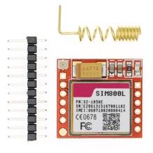 20 قطعة أصغر SIM800L جي بي آر إس GSM وحدة مايكرو سيم بطاقة الأساسية مجلس رباعية النطاق المنفذ التسلسلي TTL