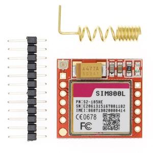 Image 1 - 20Pcsขนาดเล็กSIM800LโมดูลGPRS GSMการ์ดMicroSIM Core Quad Band TTL Serial Port
