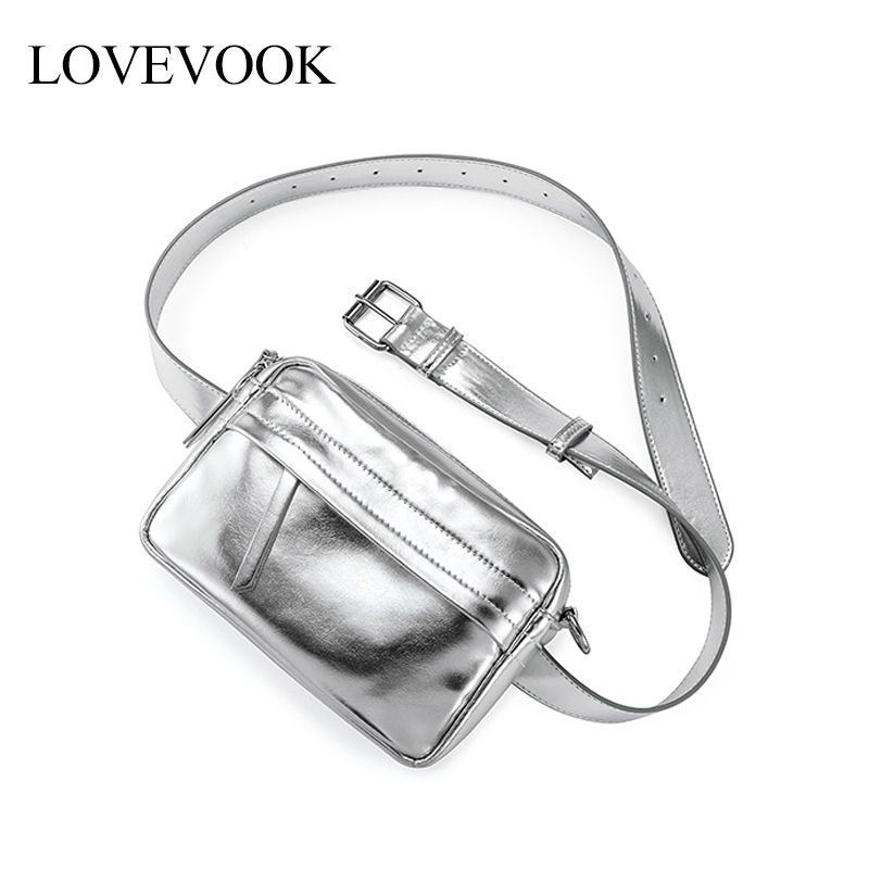 Lovevook Women Belt Bags Sporty Fanny Pack PU Leather Waist Pack Cross-body Messenger Bag For Women 2019 Waist Bag For Ladies