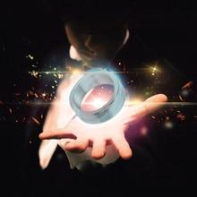Волшебные игрушки-Фэнтези, миниатюрное серебряное магнитное кольцо, магнитное кольцо для фокусов, магнитное украшение для пальцев, волшебные аксессуары