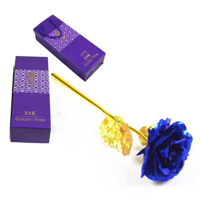 24K Plated Rose Flower Valentines Day Gift Birthday Romantic High Quality 3