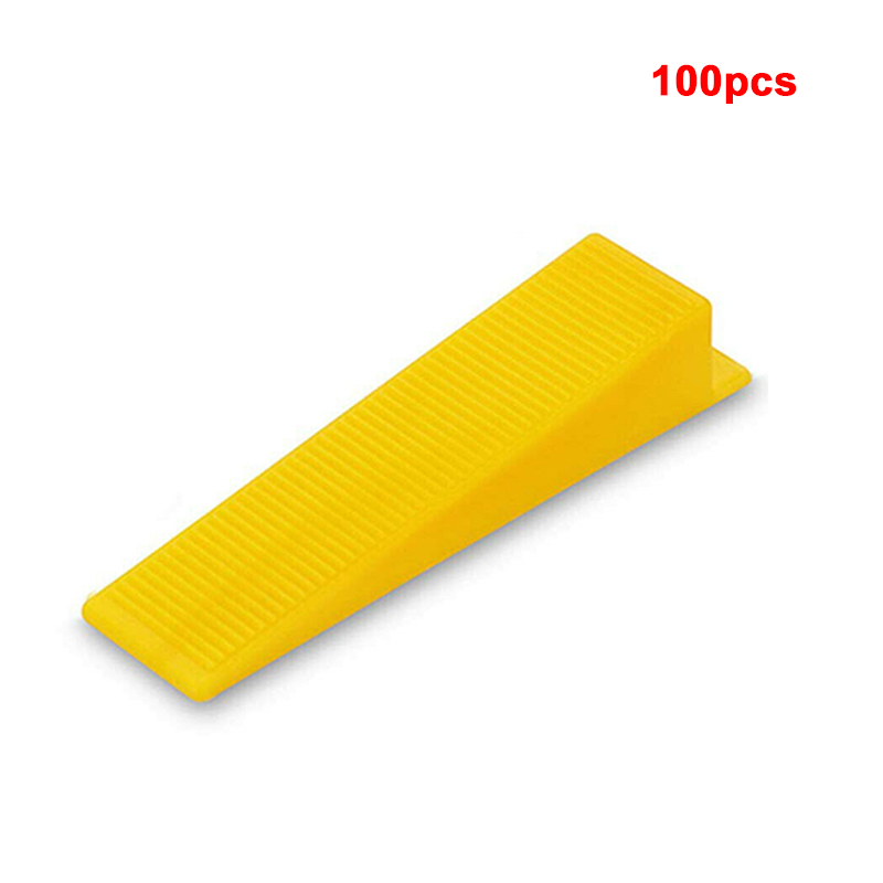 100 Pcs Wall Level Tile Leveling For Tile Wedges Tiling Flooring Tool Plastic Flat Ceramic Leveler Floor Construction Wedges