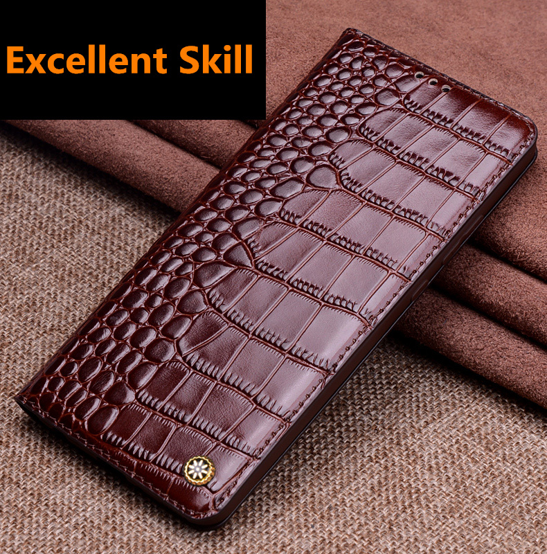 Luxury Full-Grain Genuine Leather Magnetic Phone Bag Case For Samsung Galaxy A7 2017/Samsung Galaxy A7 2016 Holster Case Cover
