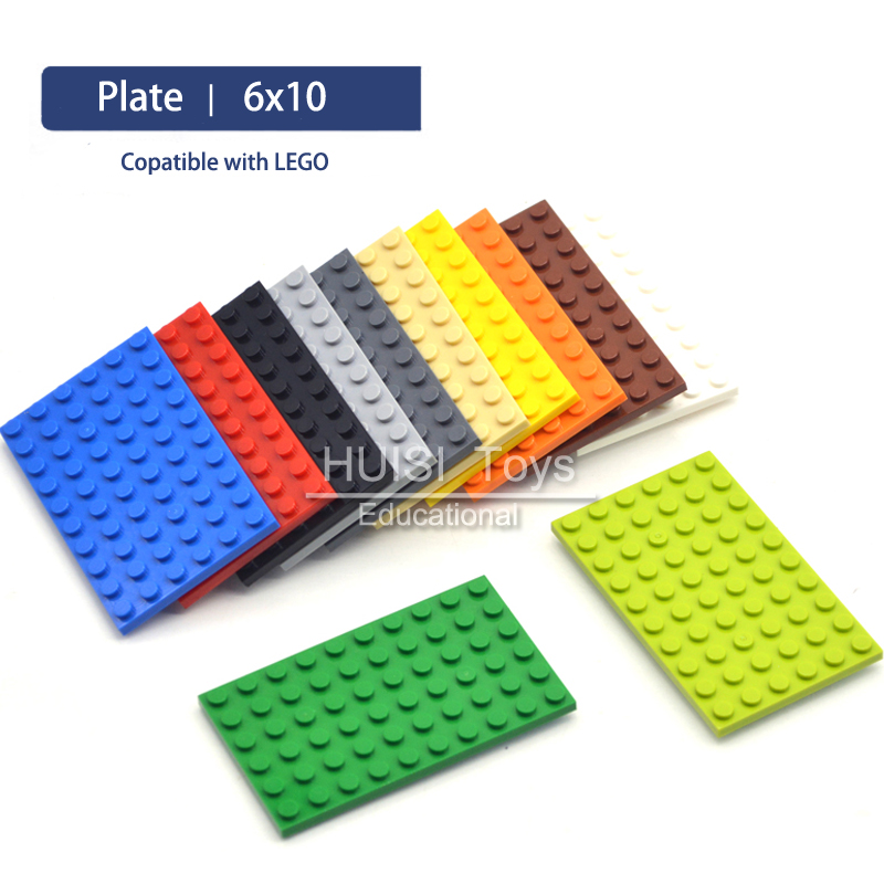 Blocks Plastic Building Toys Bricks Set For Girls Boys Compatible with LegoO Parts Plate 6x10 DIY Model Kit Educational Toys