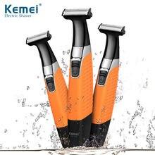 Электробритва kemei с зарядкой от usb водонепроницаемый перезаряжаемый