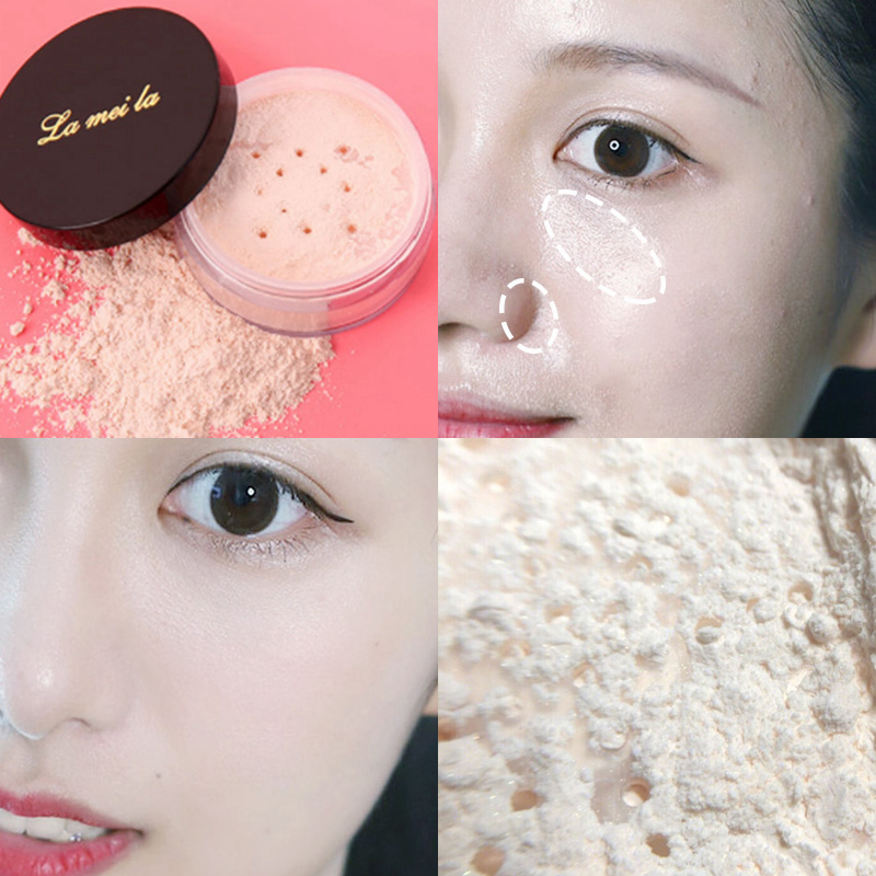 Face Concealer Waterproof Oil-control Whiteing Transparent Finish Loose Powder Lightweight Matte Foundation
