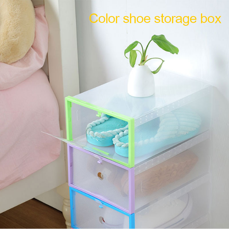 Convenient Shoes Storage Box Save Space PP Household Supplies Housekeeping Shoe Box Durable Foldable Box Slipper Organization