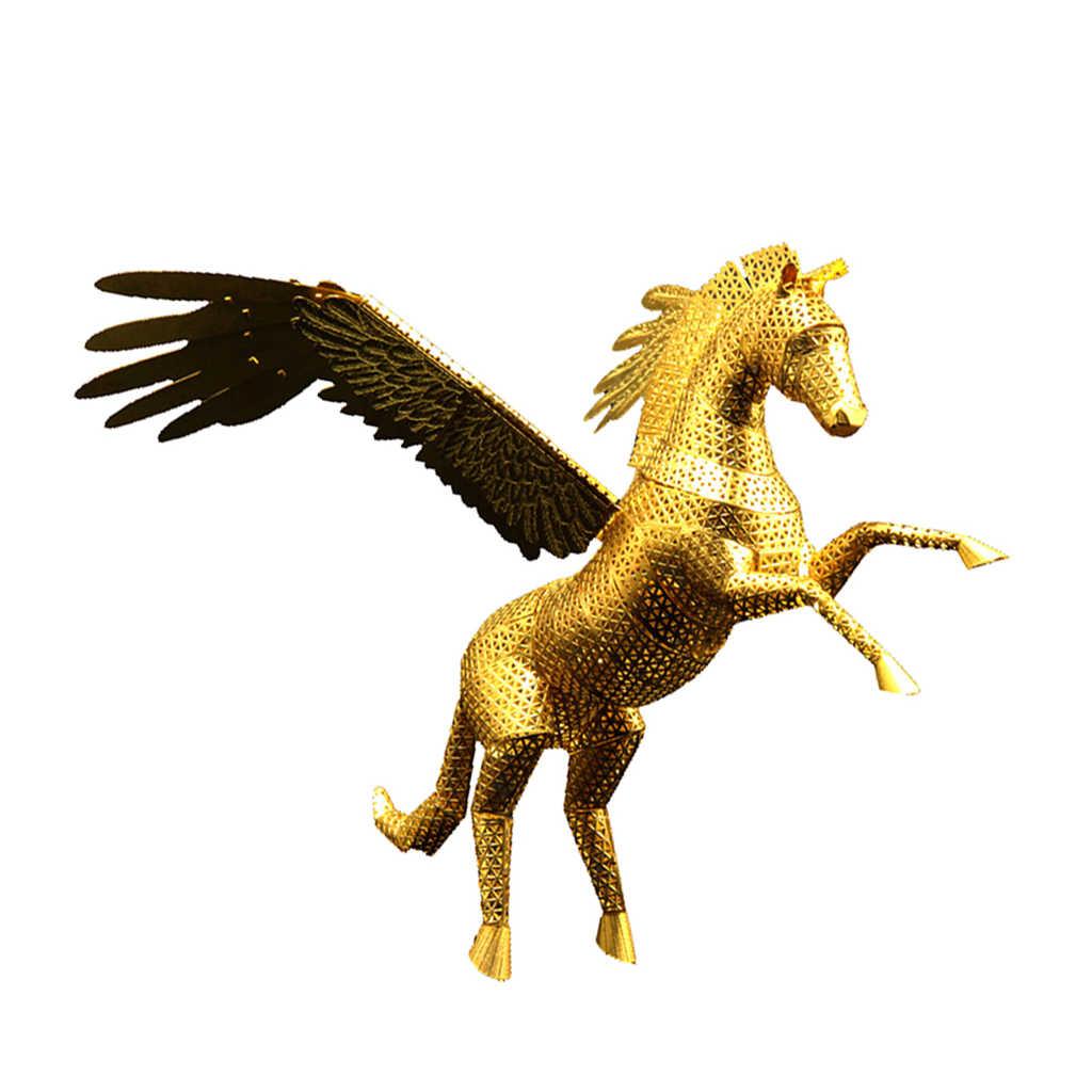 3D Metal Puzzle Statue of Pegasus Models Building Brain Teaser Kid Game Toys
