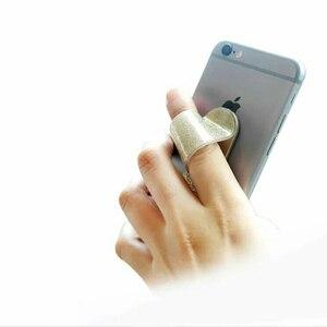 Image 4 - ユニバーサル指リングホルダー電話リンググリッター携帯電話グリップスタンドバンドスマートバックステッカー Iphone サムスン HUAWEI 社