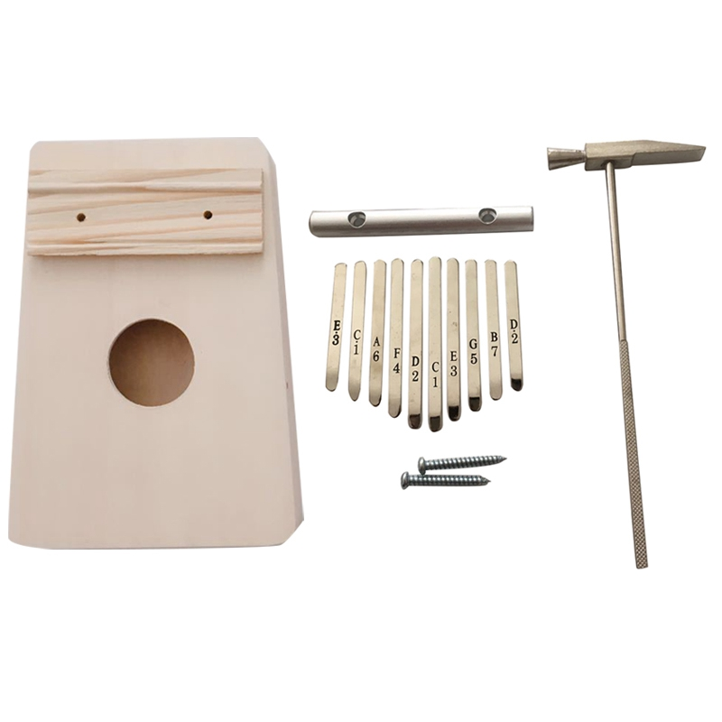 SEWS-10 Key Kalimba Diy Kit Bass Wood Thumb Piano Mbira For Handwork Painting Parents-Child Campaign