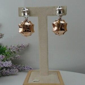 Image 4 - Yuminglai pendientes brasileños de oro de Dubái para mujer, 24K, FHK7977