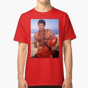 En Hoff - Baywatch tişörtlü plaj Baywatch Pamela Anderson adam sıcak kırmızı mayo 90s 90s simgesi