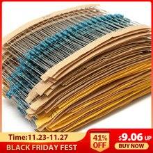 2600pcs 130 Valori 1/4W 0.25W 1% Resistenze A Film Metallico Assortiti Kit Pack Set Lotto Resistenza kit Set Lotto