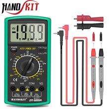 Handskit multímetro Digital AC DC profesional, medidor de voltímetro con pantalla LCD, medidor de 2000 recuentos