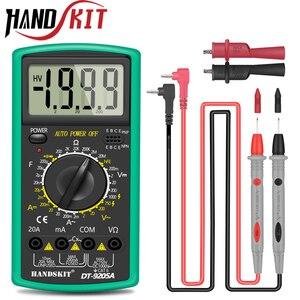 Image 1 - Handskit multimetre AC DC dijital multimetre profesyonel Tester ölçer voltmetre LCD ekran 2000 sayım ölçer cihazı