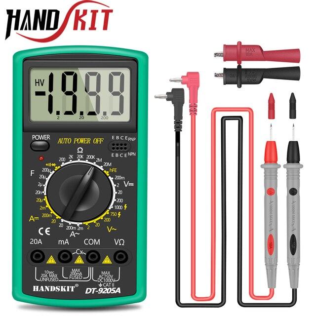 Handskit multimetre AC DC dijital multimetre profesyonel Tester ölçer voltmetre LCD ekran 2000 sayım ölçer cihazı
