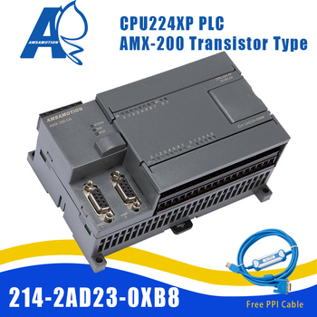Amsamotion CPU224XP S7-200 CN Replace Siemens 6ES7 214-2AD23-0XB8 PLC DC/DC/DC 14 Input 10 Output Transistor Digital