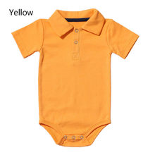 0-2Y Baby Girls Jumpsuit Playsuit Toddler Summer Infant Newborn Baby Boy Baby Girl's Clothing Solid Color Romper Costumes(China)