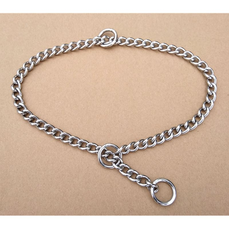 2 Pieces Per Bag Stainless Steel Chain For Pet 62cm Length Dog Collar Lead Chain Welded