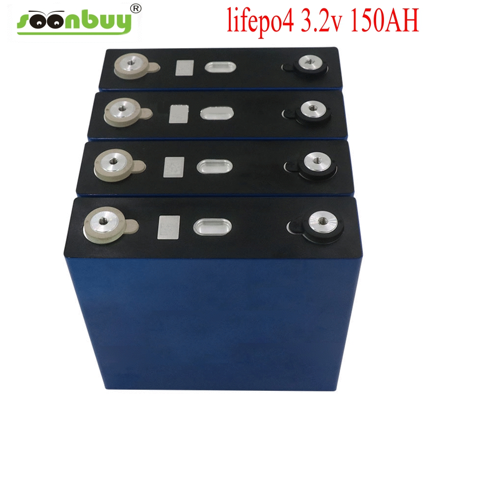 1Pcs 3.2v 150ah Lifepo4 Battery Lithium Iron Phosphate Cell Batteries NEW 12v 24V150AH For Solar RV Pack EU US TAX FREE