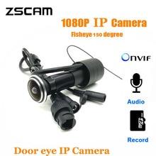 Home-Security-Camera RTSP Eye-Peephole Door Onvif 1080P Motion-Sensor Xmeye Video/audio