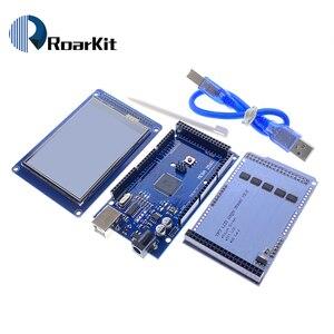 """Image 4 - 무료 배송! 3.2 """"TFT LCD 터치 스크린 디스플레이 320X240 ILI9341 + 3.2 인치 쉴드 + 메가 2560 R3 Arduino 키트 용 usb 케이블 포함"""