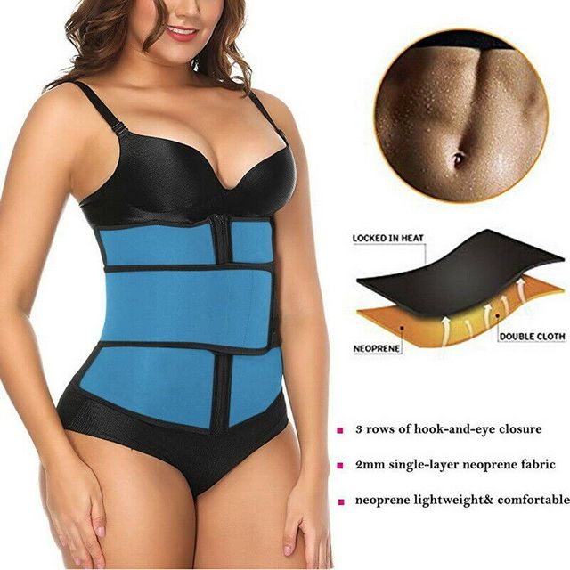 Waist Trainer Thermo Sweat Belt Waist Trainer Girdle Corset Women Tummy Body Shaper Shapewear Fat Burning Fitness Modeling Strap 5