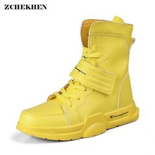 Luxury Brand Hip Hop Men Chunky Sneakers High Top Casual