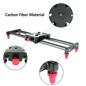 Image 3 - 40 cm 조정 가능한 탄소 섬유 dslr 카메라 슬라이더 슈팅 안정제 레일 캐논 소니 비디오 사진 돌리 트랙 슬라이더