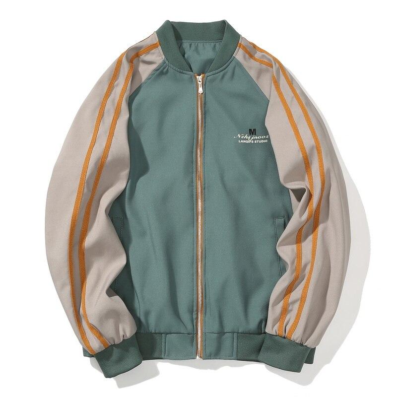 Men Jackets Windbreak Coats Youth Korean Design Jackets M-3XL Casual Korean Baseball Uniform Letter Hip Hop Streetwear,ZA320