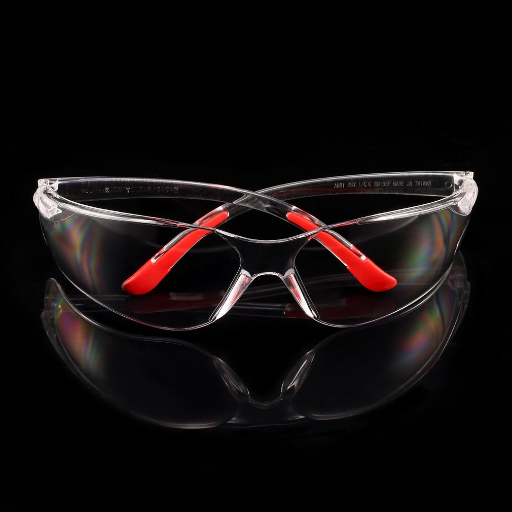 LESHP 1 PCS Safety Glasses Protective Glasses Working Safety Glasses Anti-Fog Windproof Dustproof Goggles Transparent Gray