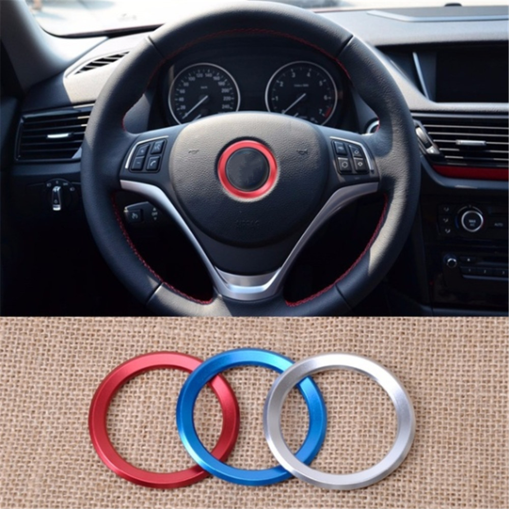 Car Styling Steering Wheel Aluminum Alloy Car Steering Wheel Decoration Ring Cover Case For BMW All Series Car Accessorie