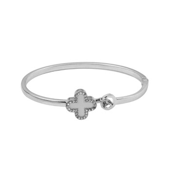 New Fashion Flower Crystal Bangle Bracelets for Women Charms Bracelet Engagement Gifts DWSZ