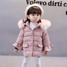 Baby Toddler Girls Autumn Winter Hooded Coat Cloak Jacket Thick Warm Clothes baby coat hot sale infant three quarter sleeve hooded cloak jacket thick warm autumn winter cute baby girl coat bebek mont