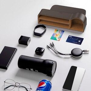Image 5 - Baseus Car Storage Baskets Box Organizer Seat Gap PU Case Pocket Car Seat Side Slit For Organizer Wallet Keys Phone Holders
