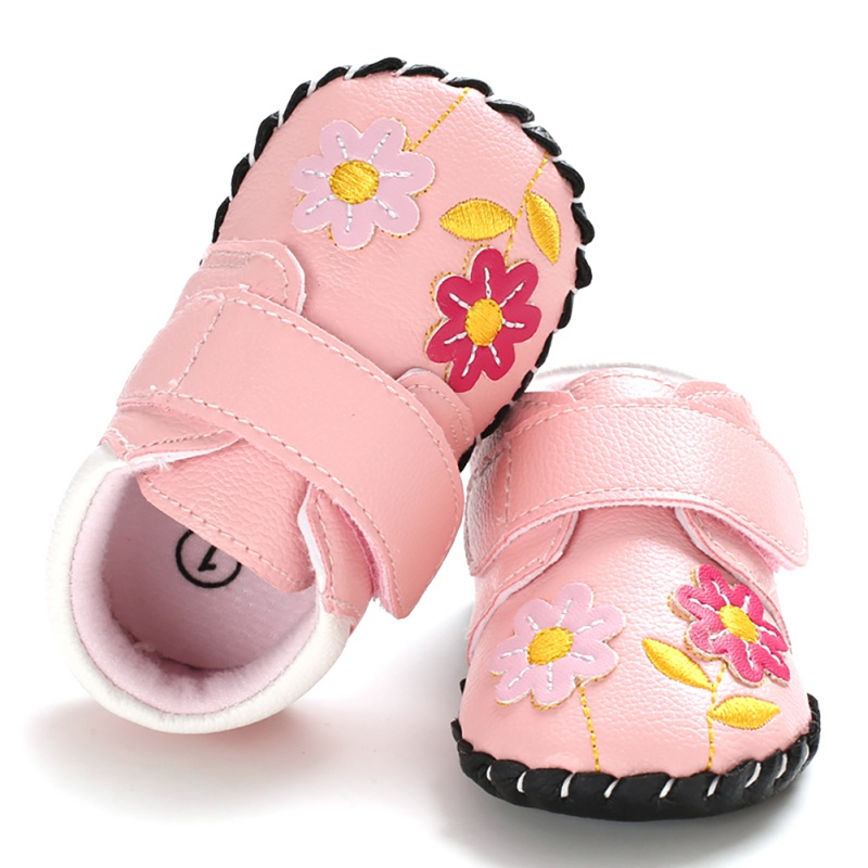 Kids Soft Sole Squeaky Sneakers Baby Girls Anti-slip Sneakers First Walkers Toddler Infant   Cartoon Anti-slip Shoes 2 Colors