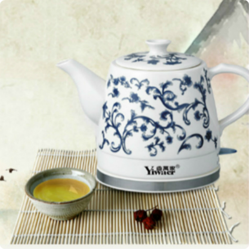 JRM0004 Factory Kettle Small Household Electric Kettle Appliances Blue and White Porcelain Kettle Wholesale Gift Ceramic Kettle