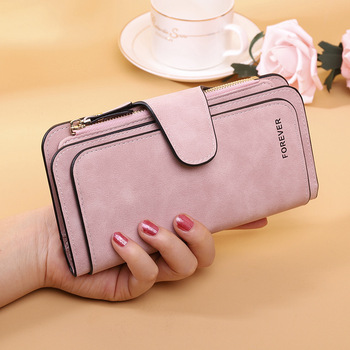 2020 New Leather Woman Wallets Coin Pocket Hasp Money Card Holder Black Casual Long Bags Ladies Phone Clutch Wallet Women Purse new fashion men s business wallets casual pu leather money bag wallet short hasp coin packet card purse man clutch id holder