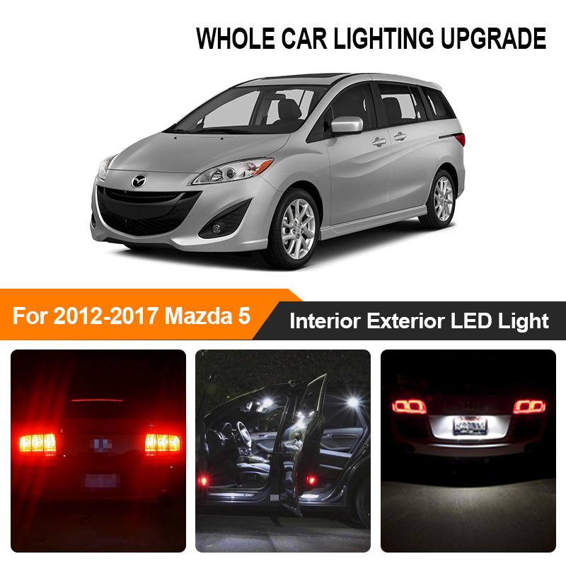 White <font><b>Red</b></font> Car Bulbs Exterior Interior <font><b>LED</b></font> Light For Mazda 5 2012 2013 2014 2015-2017 Reverse Brake Parking Turn Signal Lamp image