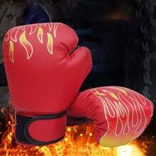 Детские Взрослые боксерские перчатки из искусственной кожи спарринг кикбоксинг тренировочные перчатки THJ99