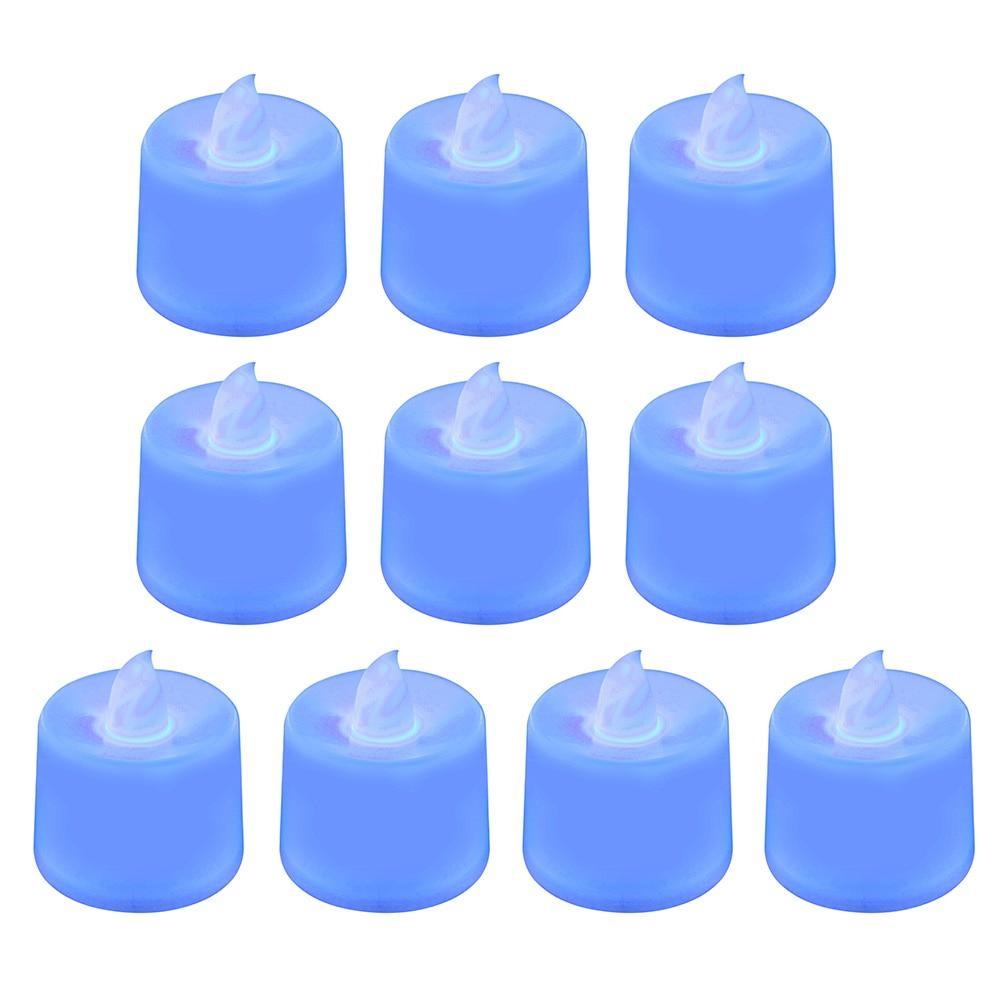 1 шт. Креативный светодиодный светильник-свеча, многоцветная Лампа, имитирующая цвет пламени, чайный светильник, украшение для дома, свадьбы, дня рождения, Прямая поставка - Цвет: blue