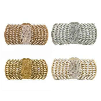 Stylish Women Rhinestone Handbag Evening Party Glitter Clutch Bag Wedding Wallet Purse F42A